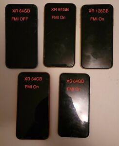 Lot of  5 Apple iPhone XR/XS - 128GB - Yellow (Unlocked) A1984 ***Plz Read***