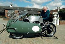 Sammy MILLER SIGNED TT Motor Bike Racing Legend 12x8 Photo AFTAL Autograph COA