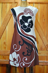 Vintage 60s  Alice Polynesian Fashions Hawaiian Mod Shift Dress Small