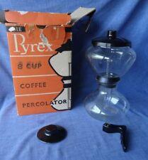 RARE Vintage Pyrex Glass Vacuum Coffee Percolator Maker, Stove Top, Original Box