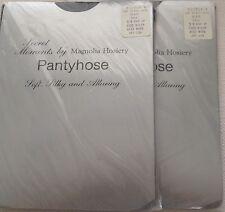 Black Dot Pantyhose Secret Moments Magnolia Hosiery Tall Lage 5' 8� up Nip 2 Vtg