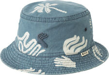 RVCA - BATIK BLOCK Mens Bucket Hat (NEW) Mark Oblow VA RUCA Indigo Cap FREE SHIP