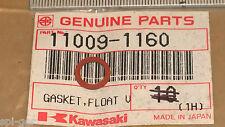 76-83 KE100 KM100 Z550 New Genuine Kawasaki Carb Float Gasket P/No. 11009-1160