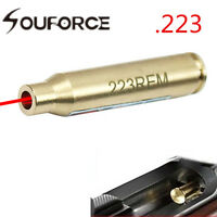 CAL 223REM  5.56 Red Dot Laser Bore Sighte Brass Cartridge Copper &battery Rifle