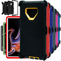 For Samsung Galaxy Note 9 Shockproof Heavy Duty Case Cover w/ Belt Holster Clip