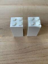 Lego Piece: 2 count white Brick 2 x 2 x 3 (30145)