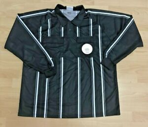 Soccer Referee jersey. Black, Long Sleeve, New With Tags, YL-AXL