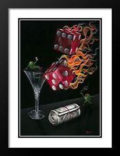 """Shoot The Wad "", by Michael Godard, Framed wall Art ,36x27"