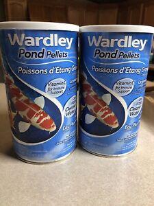 (2)Wardley TEN Total Essential Nutrition - Pond Pellets for all pondfish - 17 oz