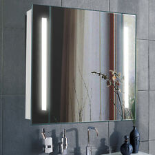 Contemporary Anti Fog Mirror Cabinet Bathroom Wall Unit 60LED Illuminated Sensor