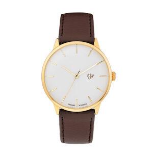CHEAPO NEW Leather Watch Brown/Gold Khorshid BNIB