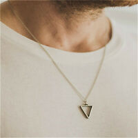 Fashion Geometric Pendant Inverted Triangle Men Man Necklace Viking Jewelry Gift