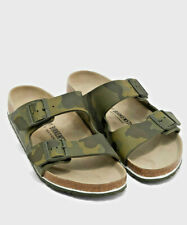 Men Birkenstock Arizona Camo Print Adjustable Cork Footbed Slide Sandals NEW