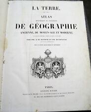 B68 La terre atlas géographie ancienne du moyen âge et moderne Dufour Duvotenay