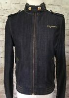 G by Guess Women's Denim Moto Jacket - Size Small