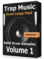 Trap Drum Loops Volume 1 Cubase ProTools Flstudio Ableton LogicPro Wav Samples