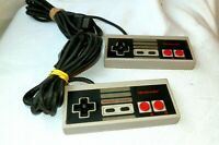 2 Original Authentic Nintendo NES Video Game Console Controller Model NES-004