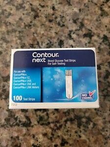 Contour Next 7312 Diabetic Test Strips New (100ct) exp 11/39/22