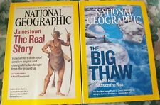 2 National Geographic Mags-May 2007 & June 2007-Jamestown, The Big Thaw etc.