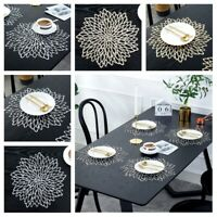 4 6 8 Placemats Table Mat  Washable Dining Wedding Party Packs Flower Design
