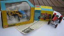 CORGI 74 66 FORD 5000 (SUPERB) & MASSEY FERGUSSON (PLAYWORN) TRACTORS IN  BOXES