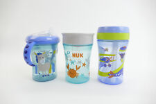 NUK Trinklern Set Boy Geschenkbox mit Starter Magic und Fun Cup blau