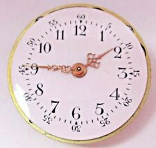 Antique Prot Pocket Watch Movement. 22 mm in size. Beautiful Porcelain Dial