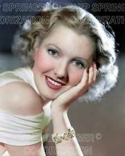 JEAN ARTHUR WEARING SLIT SLEEVE BLOUSE BEAUTIFUL COLOR PHOTO BY CHIP SPRINGER