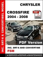 CHRYSLER CROSSFIRE 2004 2005 2006 2007 2008 SERVICE REPAIR WORKSHOP MANUAL