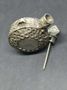 Ancient antique Islamic Arabian Women's Kohl Eyeliner Set Brass Bronze Container