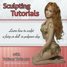 Complete Sculpting Tutorials Cd with Bonus -Ooak doll or fairy in polymer clay
