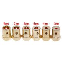3/4/5/6/7/8mm hole diameter motor flexible coupling coupler E&F