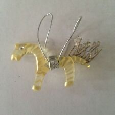 LALO Treasures Horse Ornament with a jeweled tail by designer Orna Lalo. $8.00