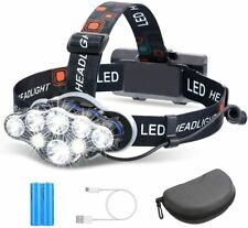 8 Modes USB Rechargeable LED Headlamp Headlight Head Lamp Flashlight Waterproof