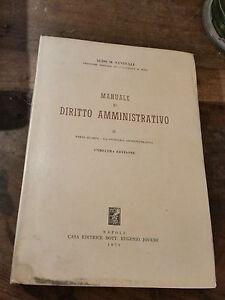 MANUALE DI DIRITTO AMMINISTRATIVO di ALDO M. SANDULLI