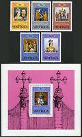Barbuda 349-353,354 S/S, MNH. Queen Elizabeth II Silver Jubilee, 1978
