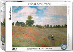 The Poppy Field Claude Monet 1000 piece jigsaw puzzle 680mm x 480mm (pz)
