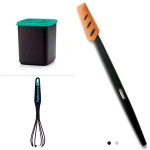 Tupperware PRIX FOU LOT pot a ustensiles + spatule fine + fouet melangeur