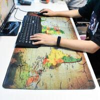 Computer Anti-slip Large World Map Gaming Mouse pad Keyboard Mat Laptop Mice Mat