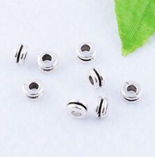 Wholesale Tibetan silver/Gold Solid Smooth Double layer Spacer Bead DIY Jewelry