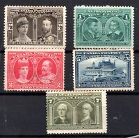 Canada 1908 Quebec mint values to 7c (most no gum) WS18197