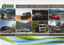 ACHLEITNER RANGE 2016 4x4 MILITARY VEHICLES BROCHURE PROSPEKT FOLDER CATALOGUE