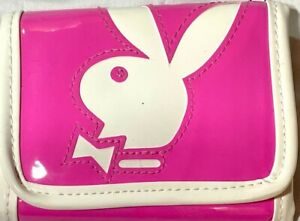 GOOD CONDITION PLAYBOY BUNNY WALLET PINK&WHITE W/ COIN ZIPPER