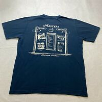 Masters T-Shirt Size S Blue Double Sided Augusta Georgia PGA Golf Golfing Mens