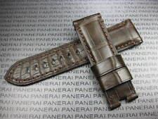 24mm Brown GENUINE ALLIGATOR SKIN STRAP Deployment Leather Band PAM 1950