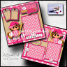 SOFTBALL ~ girl PRINTED 2 PREMADE SCRAPBOOK PAGES layout paper piecing BY CHERRY