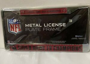 Tampa Bay Buccaneers NFL Super Bowl LV Chrome License Plate Frames