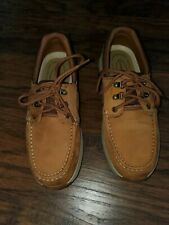 """Rugged Shark Tan Leather Pro Fishing Boat Oxford Shoes Mens 11.5 M """" NEW"""""""