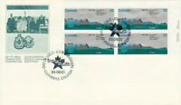 CANADA #1015 32¢ ST LAWRENCE SEAWAY UR PLATE BLOCK FIRST DAY COVER