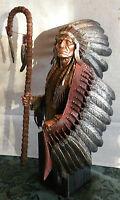 """Chilmark Pewter """"WAR BONNET"""" Joe Slockbower LE # 337 of 350 (11 3/4"""" Tall)"""